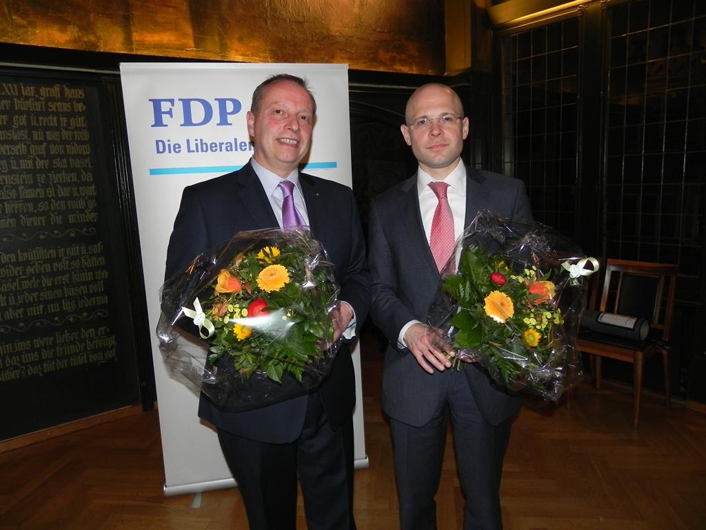 Christophe Haller und Baschi Dürr nach der Nomination für die Regierungsratswahlen